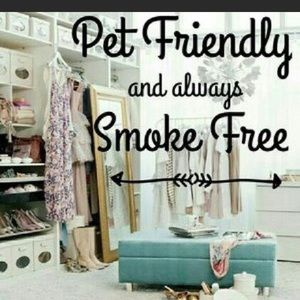 This closet is smoke free but fur baby friendly!